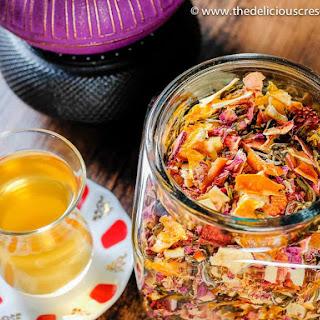 ROSE and DRIED FRUIT HOMEMADE TEA Recipe