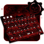 skull steampunk keyboard gear blood bio hazard