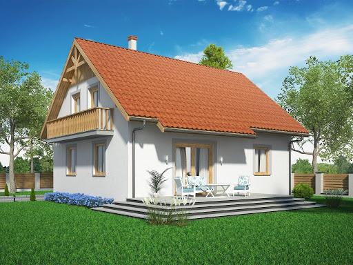 projekt Domek Modrzewiowy ES