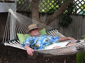 Photo: Warren takes a siesta.