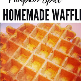 Pumpkin-Spice Homemade Waffles.