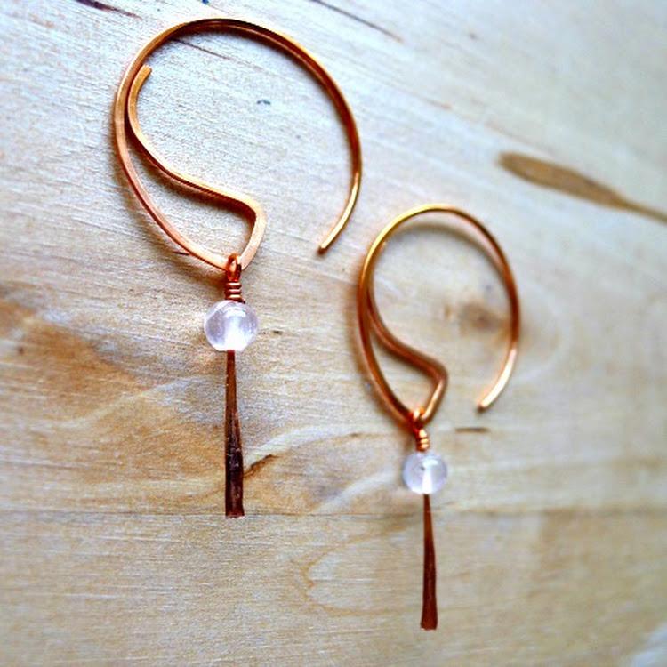 (NEW) Detachable Sheer Pink Rose Quartz Earring by Heavenly Gems