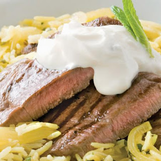 Lamb with Spiced Mint Pilaf