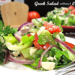 Greek Salad without Olives (South Beach Phase 1 Recipe).