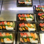 delicious and afforable sushi on sale in Nakano in Tokyo, Tokyo, Japan