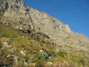 Photo: Slogging up to the contour path
