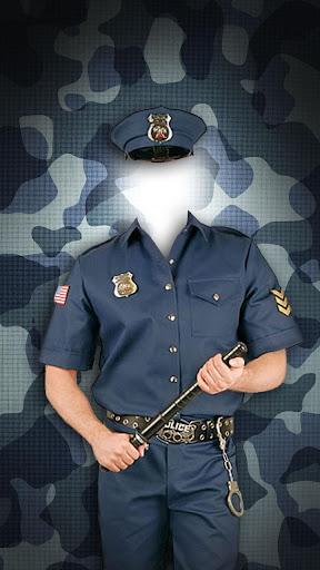 警察官の制服写真編集アプリ