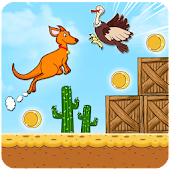 Kangaroo Run:Wild Jungle Adventure Platformer Game