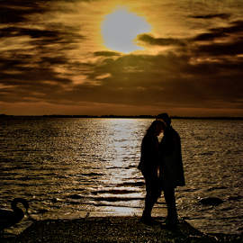 two souls one love by Antonio Simoes - People Couples ( sunset, lovebirds, valentines, sunsets, day, ireland )