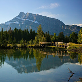 Cascade Ponds 2 by Mike Mulligan - Landscapes Waterscapes ( water, canada, cascade ponds, lake, banff,  )