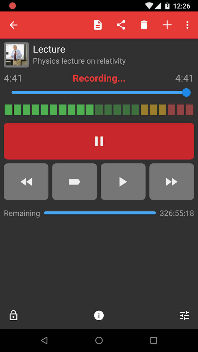 Dictadroid Voice Recorder Screenshot 4