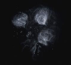 """Photo: NGC 6334, """"la patte de chat"""" dans le Scorpion, dans le T406 à 88X et filtre H-Beta depuis Ténérife (2100m) le 2 mai 2014."""