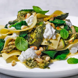 Courgette, Spinach And Ricotta Open Lasagne.