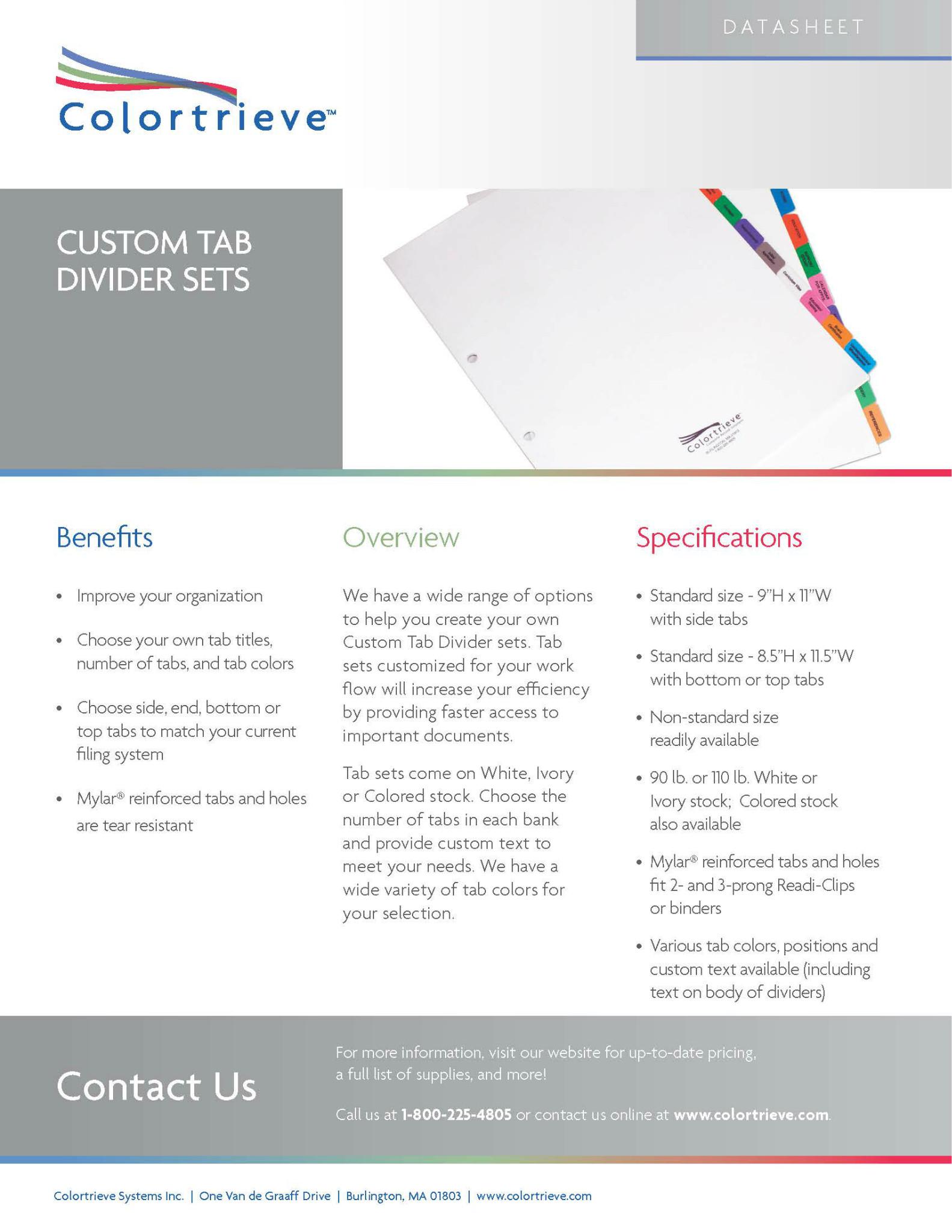 Photo: Custom Tab Divider Sets