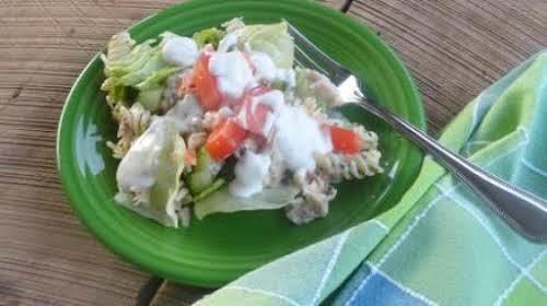 """Spring Salad Stack-Up """"This salad is so good even the pre-schoolers ate..."""