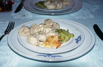 Photo: 03402 ウランバートル~二連(アルレン)/汽車/食堂車料理/ジチネスムバンシ(蒸した餃子)
