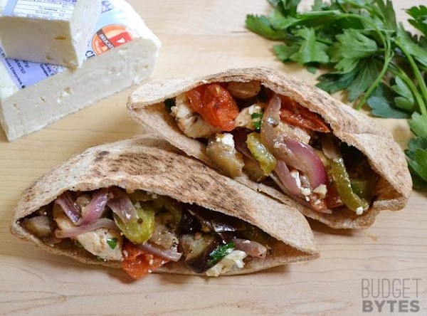 Oven Roasted Greek Stuffed Pitas Recipe