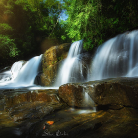 Waterfall by Sihina Lahiru - Landscapes Waterscapes