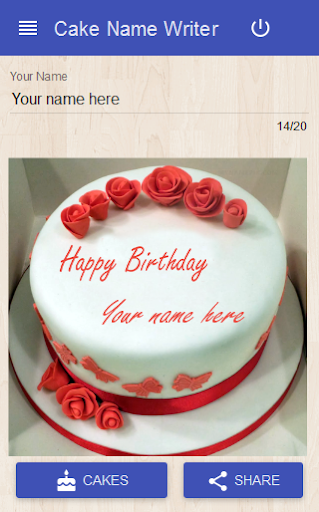 Cake Name Writer screenshot