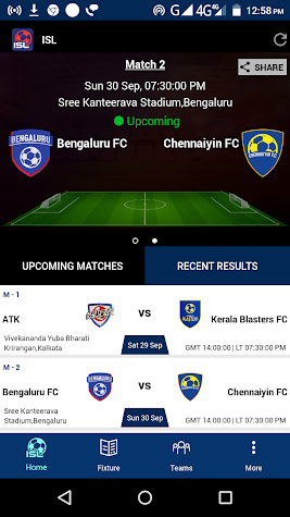 ISL Football 2018-19 Screenshot