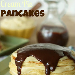 Boston Cream Pie Pancakes