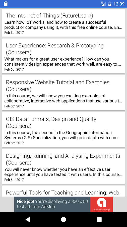 MOOC-List- screenshot