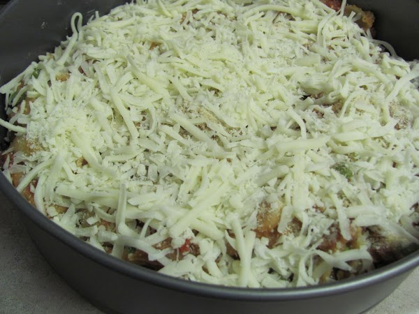 layer the remaining amount of cheese on top. bake for 20 mins or till the...