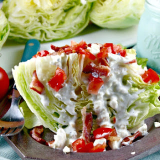 Iceberg Wedge with Homemade Blue Cheese Dressing