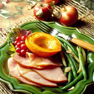 Ham with Cider Glaze.