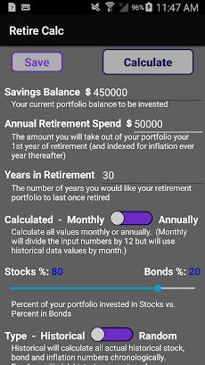 Retirement Investing Calculator Simulator - Retireのおすすめ画像2