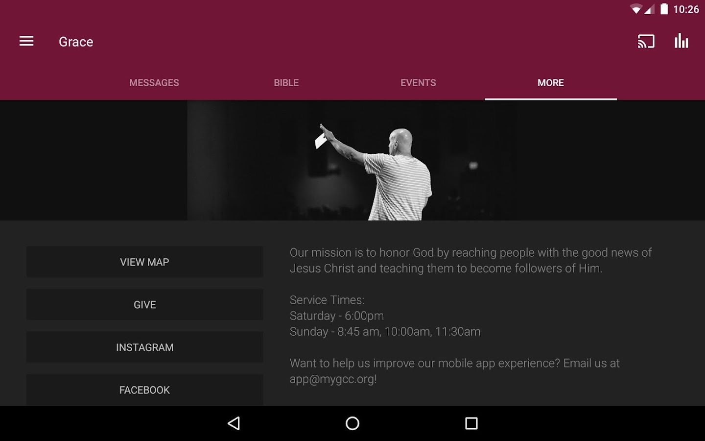 Grace Community Church- screenshot