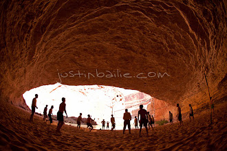 Photo: Group of people playing volleyboall in Redwall Cavern while rafting the Grand Canyon. Grand Canyon National Park, AZ.