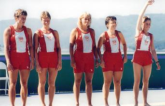 Photo: 1984 Olympisk 3.plads til dansk damedobbelfirer.  Privatfoto