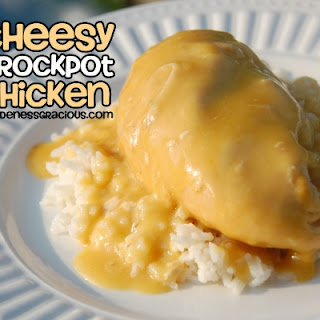 Cheesy Crock Pot Chicken.