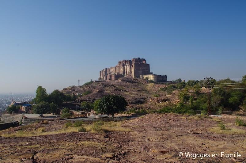 Fort de Merhangarh vu depuis Jaswant Thada