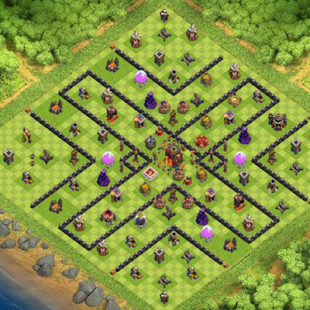 Hybrid Base COC Town Hall 10 - náhled