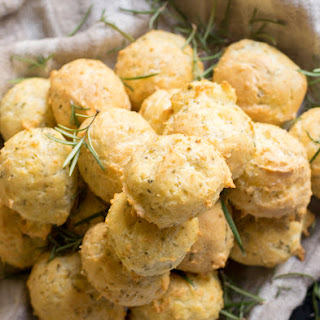 Rosemary and Parmesan Cheese Gougères, French Savory Cheese Puffs.