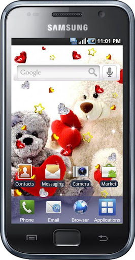 【免費個人化App】Teddy Bear Love live wallpaper-APP點子