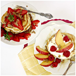 Cracklin' Oat Bran Vanilla Buttermilk Pancakes