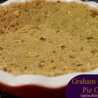 Graham Cracker Pie Crust with Coconut and Pecans.