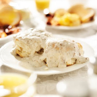 Country-Style Biscuits and Gravy Casserole.