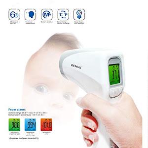 Termometru digital noncontact cu infrarosu, Genial T81, Alb