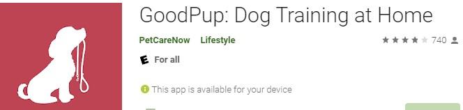 GoodPup: Dog Training at Home