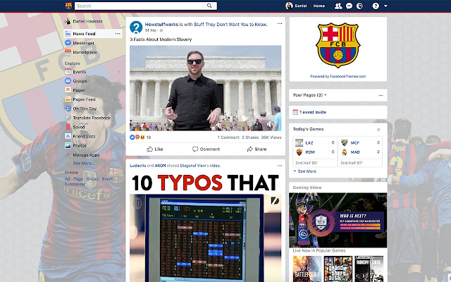FC Barcelona Theme for Facebook
