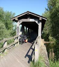Photo: Schöne Holzbrücke bei Rhein-Km 629