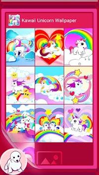 Kawaii Unicorn Wallpaper Poster