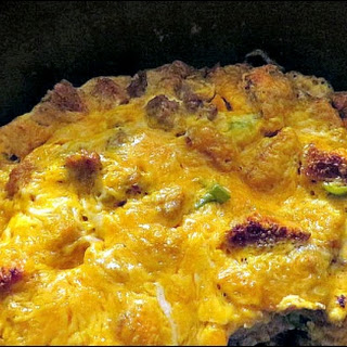 Dutch Oven Breakfast Casserole.