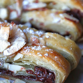 Chocolate Braid Puff Pastry Dessert.