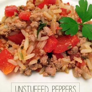 Easy UnStuffed Peppers