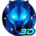 Ice Wolf 3D Keyboard Theme icon